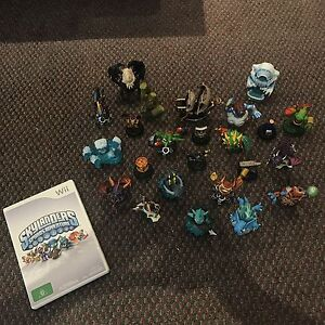 Wii Skylanders Game with Figurines Maryland Newcastle Area Preview