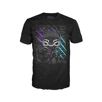 Funko Black Panther Color Scratch Adult Tee Shirt NEW T Shirts Men's Movie  (Black Adult Movies)