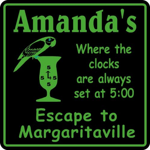 Personalized Name Margaritaville 5 0