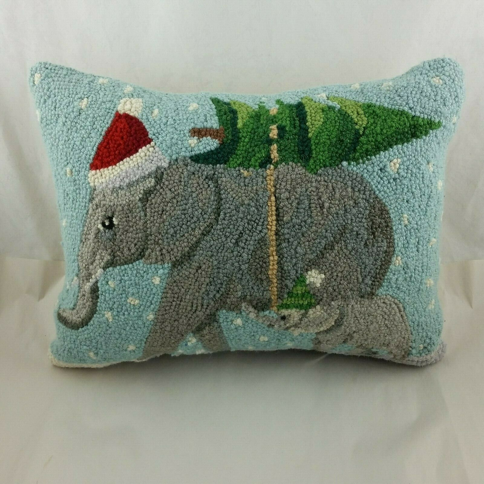 The Holiday Aisle Fredette Prancing Reindeer Hook Wool Lumbar Pillow For Sale Online Ebay