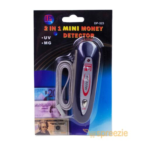 2 in 1 Mini Counterfeit Money Detector Tester Dollar Bill Fake Currency Check #2