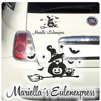 Eule Hexe Name Eulenexpress Auto Aufkleber Autoaufkleber Sticker Sterne A4010