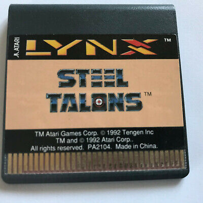 Steel Talons / Cart Only / Atari Lynx Game
