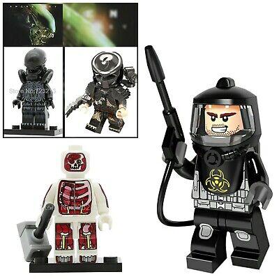 minifiguras terror alien lote 4 con traje anticontajios +regalo marcapaginas JT