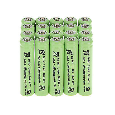 20Ps attribute AAA 1.2V 600mAh Ni-MH Rechargeable Battery 3A Tab For Solar Light