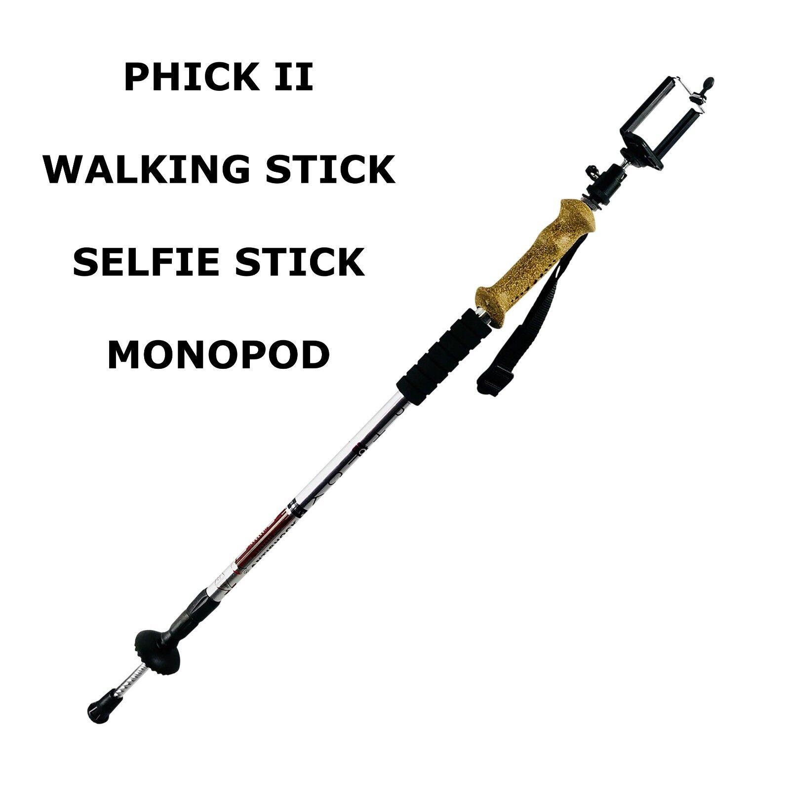 PHICK Hiking Walking Trekking Pole With Adjustable Camera Ph