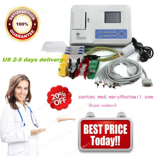 ConTec Digital 3-Channel 12-Lead ECG EKG Monitor,Thermal Printer,ECG300G FDA&CE