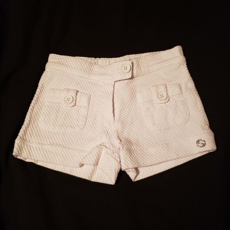 Gucci Baby Girls White Shorts Sz 12/18 M