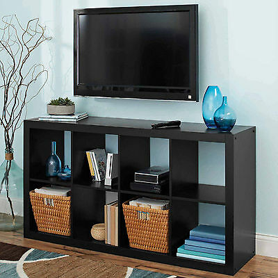 Better Homes and Gardens 8 Cube Organizer Storage Bookcase, Multiple Colors