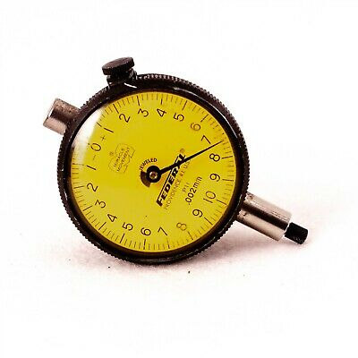 Federal P11 Dial Indicator Precision 0.002mm Travel 1mm Flat Back