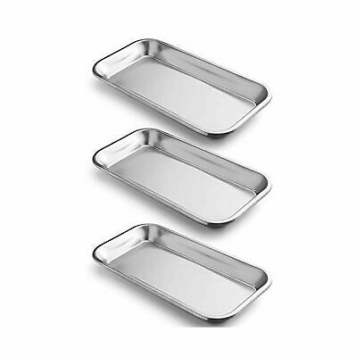 Coymos 3 Pack Surgical Tray Stainless Steel Tray For Lab Instrument Supplies...