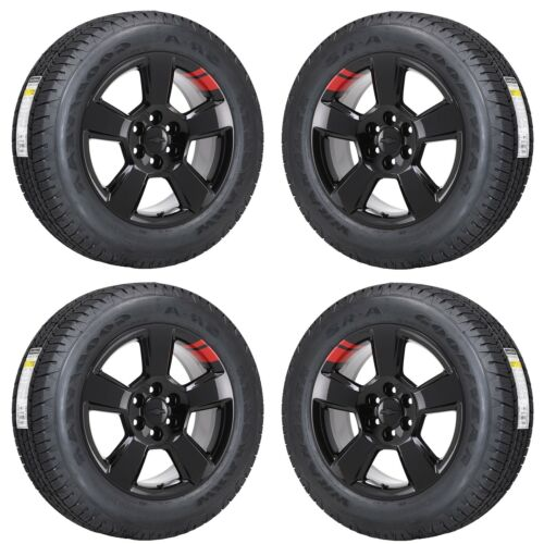 "20"" Silverado 1500 Truck Red-line Black Wheels Rims Tires Factory Oem Set 4 5652"
