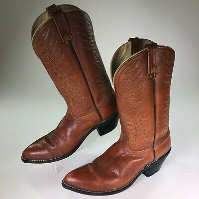 Vintage ACME Western Cowboy Boots #1678  Brown Leather MENS SIZE 11.5B