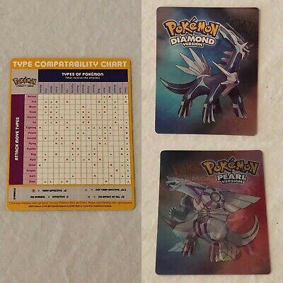 Pokemon Diamond Pearl Holographic Card Type Compatibility Chart Dialga -