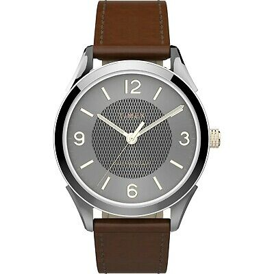 Timex TW2T668000, Men's Briarwood Brown Leather Watch, 40MM Case