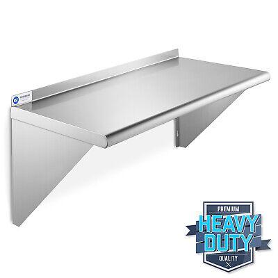 Open Box - Nsf Stainless Steel 14 X 24 Wall Shelf Restaurant Kitchen Shelving