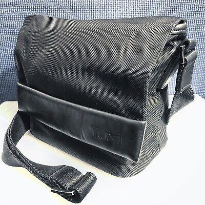 TUMI Alpha Black Ballistic Nylon Crossover Womens Briefcase Handbag Bag Purse