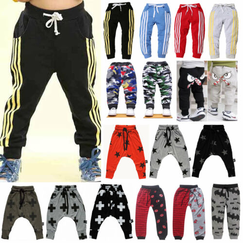Baby Kinder Jungen Harem Jogginghose Pumphose Sports Training  Lang Hosen DE