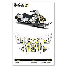 2003-2007 SKI DOO REV MXZ SNOWMOBILE GRAPHICS ARGYLE STYLE