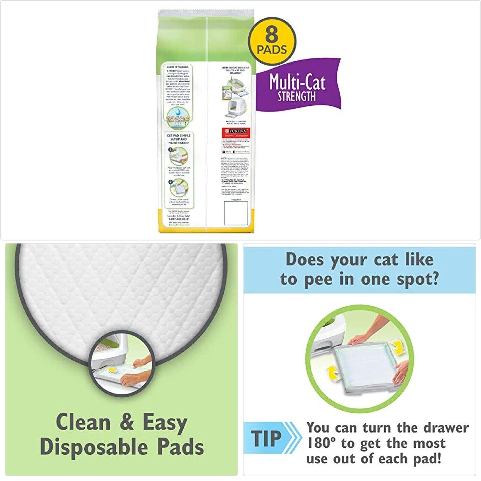 Purina Tidy Cats Breeze Litter System Cat Pad Refills Multi