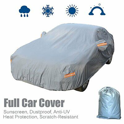 Full Car Cover Waterproof Breathable Sun UV Dust Rain Snow Resistant Protection