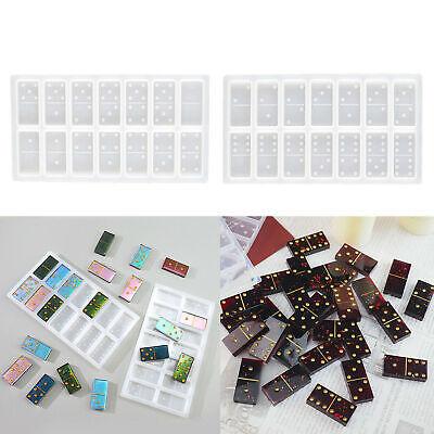 Molde de silicona Domino Molde de resina epoxi de cristal Joyería DIY