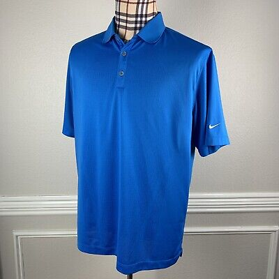 Nike Golf Mens Large Polo Shirt Body Mapping Blue Short Sleeve Dri-fit L Dri Fit Body Map