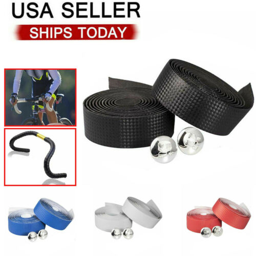 2PCS Cycling Road Bike Bicycle Handlebar Tape Rubber Handle Bar Wrap Non-slip Bicycle Components & Parts