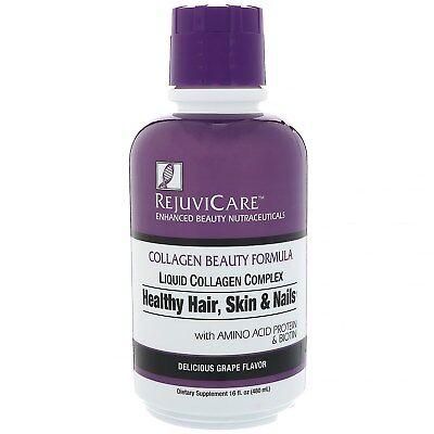 Rejuvicare  Collagen Beauty Formula  Liquid Collagen Complex  Healthy Hair  Skin