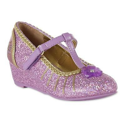 Disney Girls' Tangled Mary Jane Purple Wedge Shoe Costume Dress UP Size 13 NEW