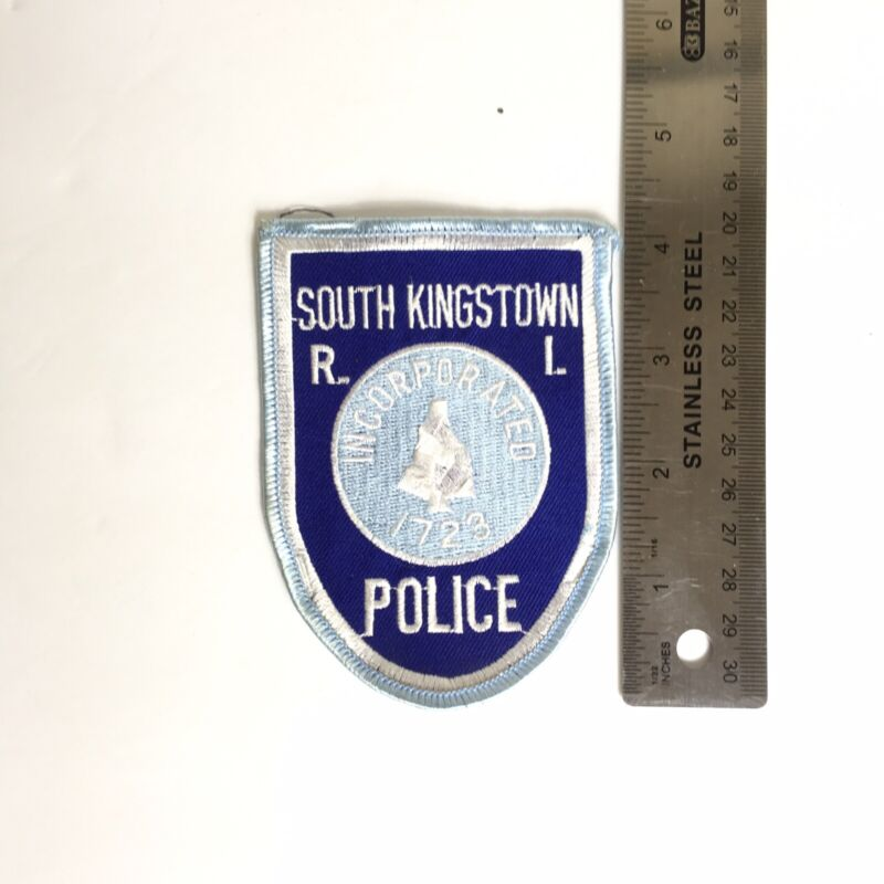 SK RHODE ISLAND POLICE PATCH INCORPORATED 1723 LIGHT BLUE PD SSI