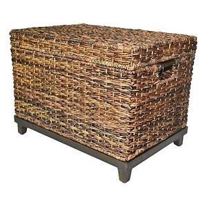 Wicker Large Storage Trunk   Dark Global Brown   Threshold™