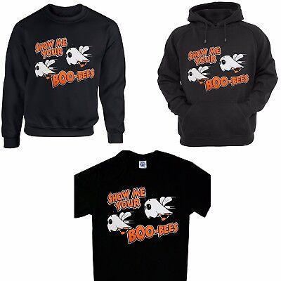 Men's Funny Halloween T-Shirt Show me your Boo-Bees Boobies Humor Costume Hoodie](Boo Bees Halloween Costume)