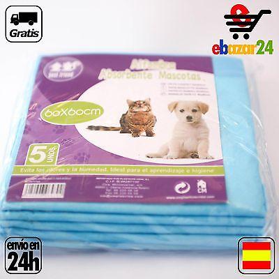 5 Empapadores para perro gato mascota 60 x 60 cm pipi caca adiestrar *Envío GRAT