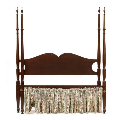 Biggs (KITTINGER) Full Size Mahogany Tall Post Bed w Finials Williamsburg Style
