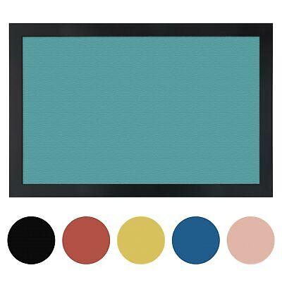 Colored Cork Bulletin Board (ArtToFrames Custom Cork Bulletin Board Solid Colors Framed in Satin Black )