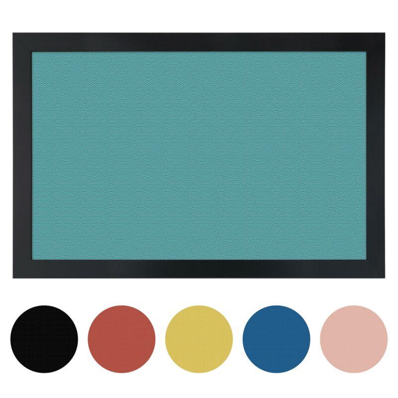 ArtToFrames Custom Cork Bulletin Board Solid Colors Framed in Satin Black