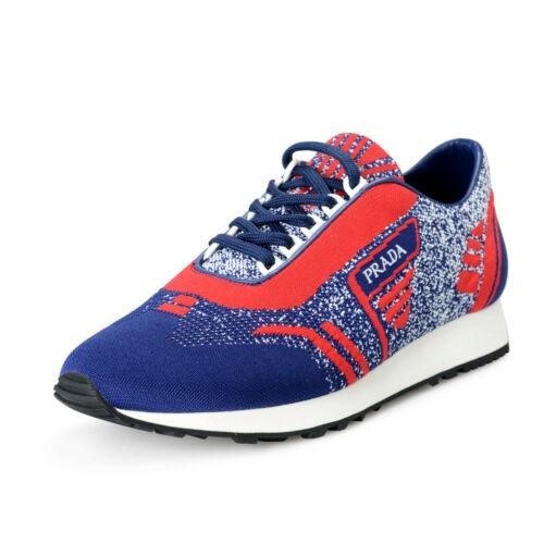 Prada Mens 2EG272 MultiColor Leather Canvas Fashion Sneakers Shoes sz 9 95