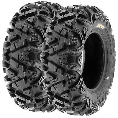 Pair of 2, 24x8-11 24x8x11 Quad ATV All Terrain AT 6 Ply Tires A033 by SunF