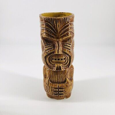 """Vintage Ceramic Tiki Mug Tumbler Glazed Exclusive Otigiri for Kona Kai 7.25"""""""