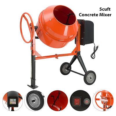 Portable 5cuft 1/2HP Electric Concrete Cement Mixer Barrow Machine Mixing Mortar