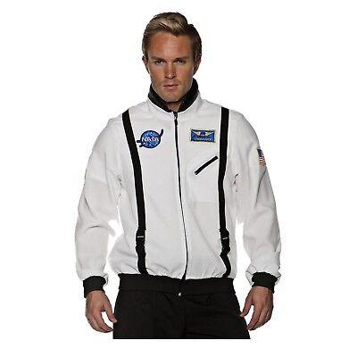 NASA Space Commander Astronaut Halloween Costume Flight Jacket Teen/Adult Men's  (Nasa Halloween)