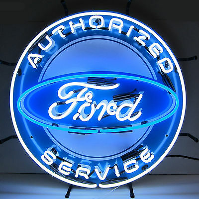 Neon Sign Ford Service Cars Garage open lamp  Man Cave Mancave Mechanic gift OLP