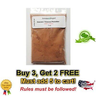 1 oz. Raw Cacao / Cocoa Powder 100% Bulk Chocolate Arriba Nacional Bean Raw Cacao Bean