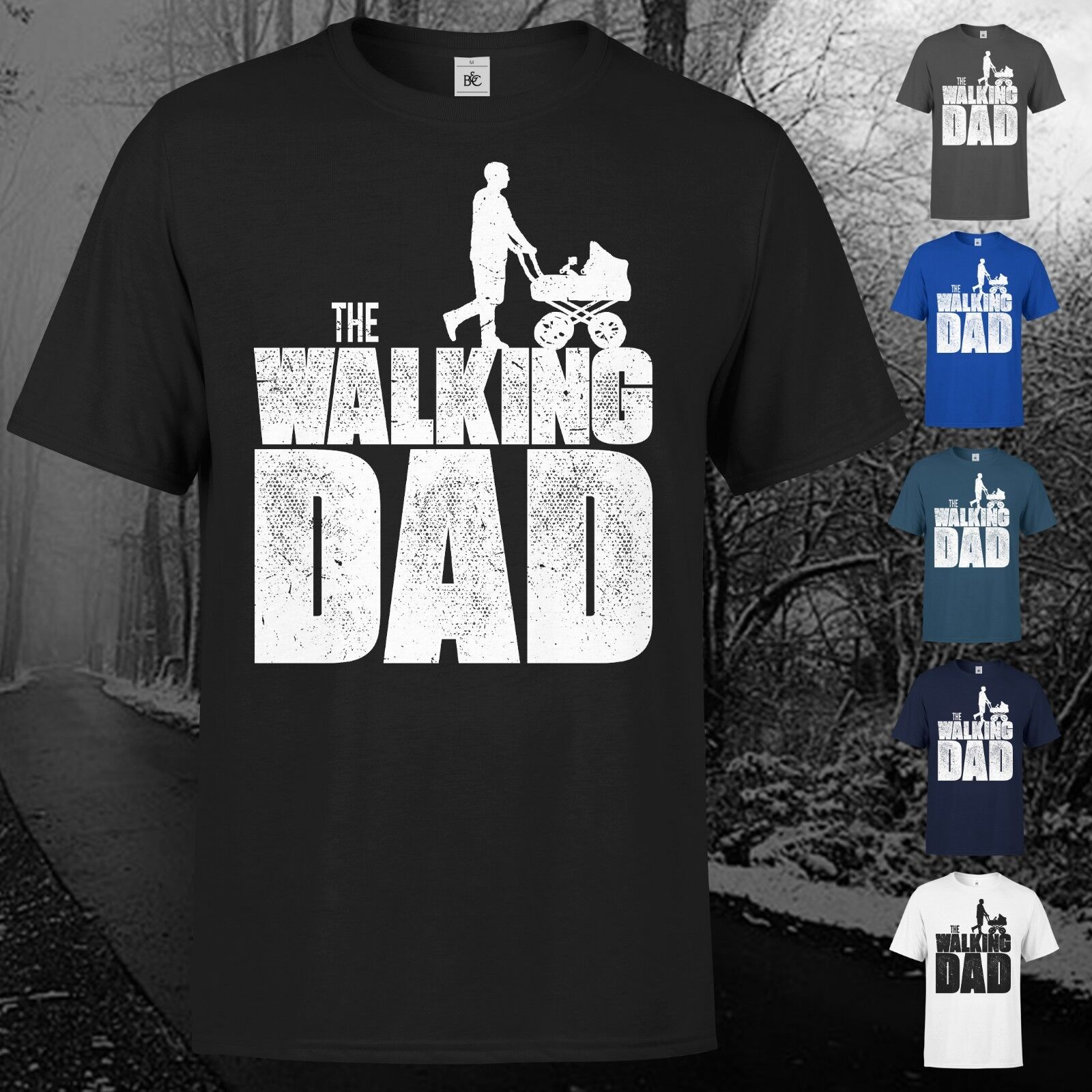 The Walking Dad T-Shirt Fun Papa Vater Vatertag Eltern Geschenk Geburt Baby Kult