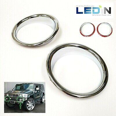 Chrome Fog Light Trim Bezel Ring For 2003-2009 HUMMER H2 SUV SUT Left Right Set