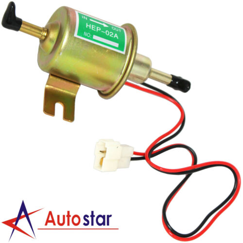 NEW UNIVERSAL 12V ELECTRIC FUEL PUMP INLINE DIESEL PETROL LOW PRESSURE HEP-02A