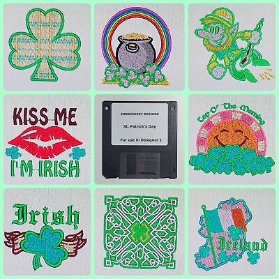 Irish St Patrick's Day Embroidery Designs Disk For Husqvarna Viking Designer 1