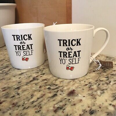 Halloween Drinkware (SIPS Drinkware Set Of 2 Trick Or Treat Yo' Self Halloween)