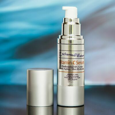 - VITAMIN C SERUM 30% + E + FERULIC ACID with HYALURONIC ACID (HA) Base Anti-Aging